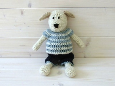 How to crochet an animal. toy top and shorts - Wooly Wonders Crochet Animals