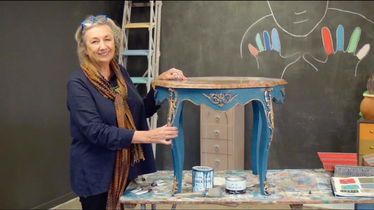 How to gild furniture using Annie Sloan Gilding Wax