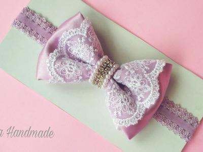 How To Make a Beautiful Bow Tie Headband For Baby and Kids