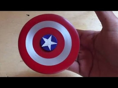 HOW TO MAKE A CAPTAIN AMERICA SPINNER
