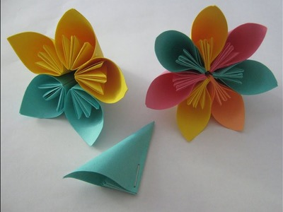 Origami Kusudama Flower by Carla Bagshaw | Create and Craft | 300x400