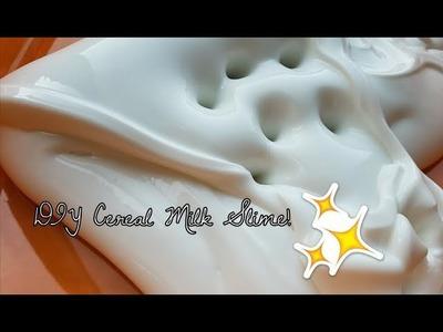 How To Make Cereal Milk Slime (inspo: @parakeetslimes) - @slimeonthemoon