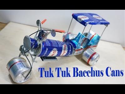 How to make Rickshaw (Tuk Tuk) -  Electric Rickshaw (Tuk Tuk ) Of Bacchus Cans#4