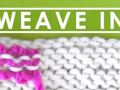 HOW TO WEAVE IN ENDS ► Day 14 Absolute Beginner Knitting Series