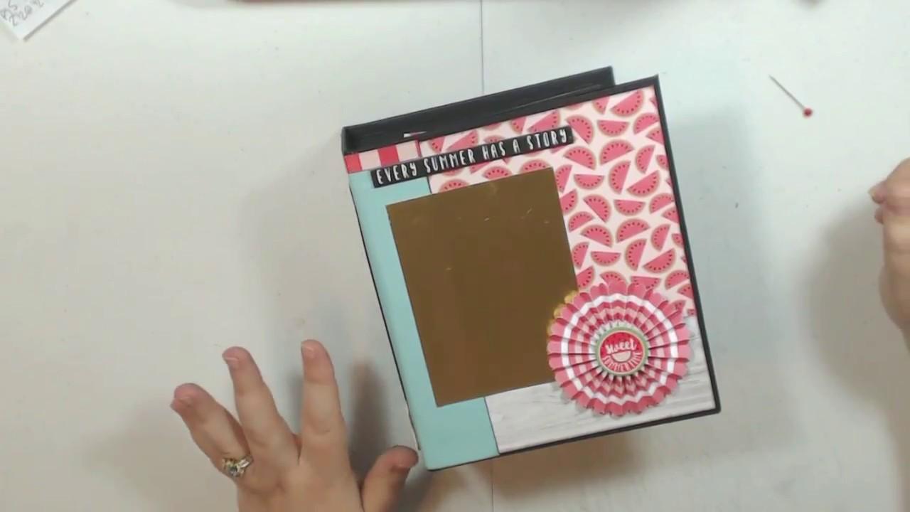 July Craftology Echo Park Summer Fun Chunky Mini Album Tutorial
