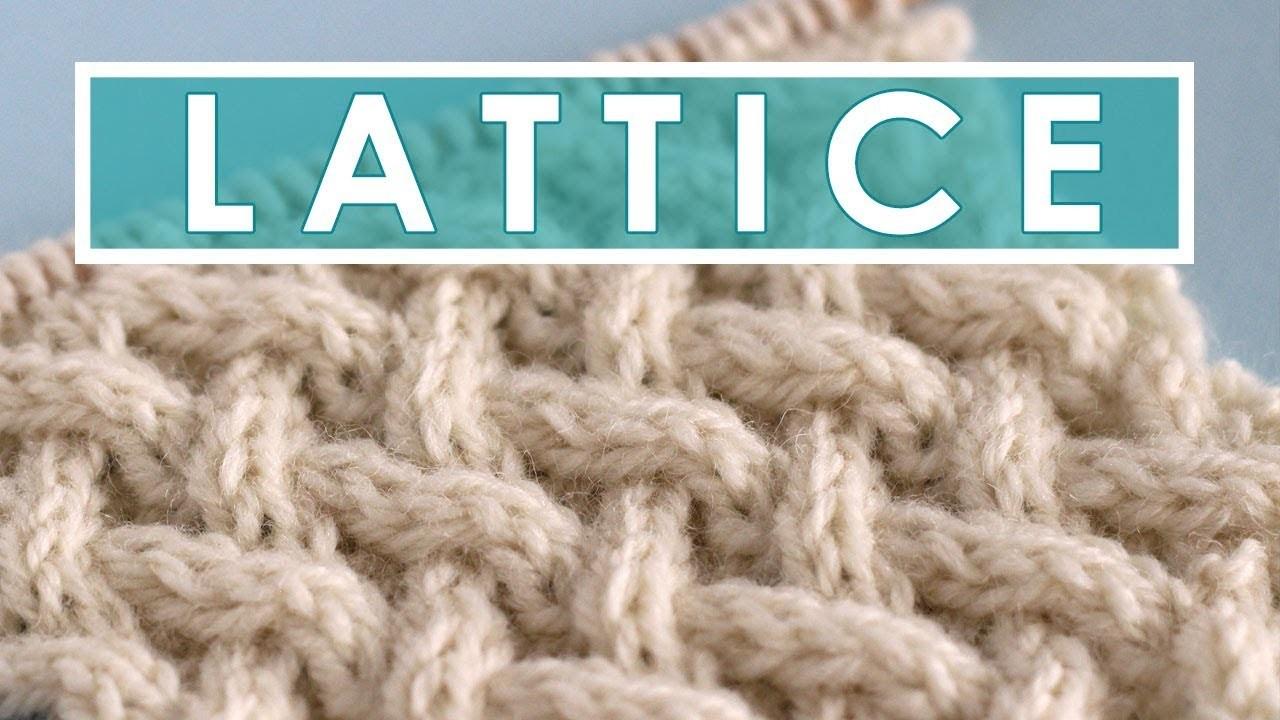 Knitting Kfb Twice : Knit lattice cable stitch pattern add stitches to