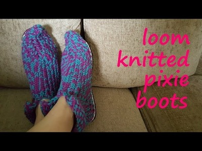 Loom Knitted Pixie Boots