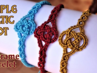 Macrame simple celtic knot bracelet tutorial - Easy and elegant jewelry