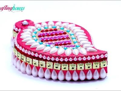 Making Decorative Kumkum Box, Roli Chawal Holder, Sindoor Box with Cardboard