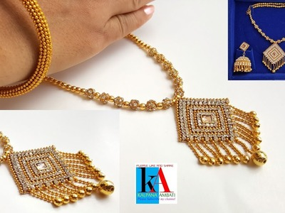 Making of designer silk thread necklace at home. bridal necklace making with silk thread. DIY