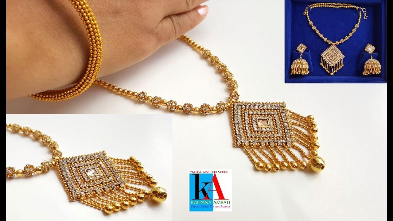 Making of designer silk thread necklace at home. bridal necklace making with silk thread. DIY