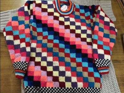 Multicolour very easy sweater design in Hindi