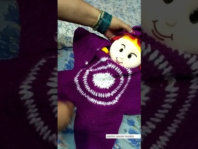 New sweater design for new born baby or kids | two colour sweater design for kids or baby in hindi