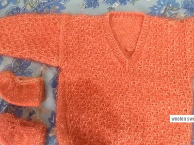 New sweater designs for kids or baby in hindi | kids sweater designs | woolen sweater making