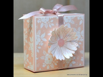 No.293 - Daisy Flip Top Gift Box - JanB UK Stampin' Up! Demonstrator Independent