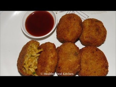 Noodles Cutlet Recipe - Cutlet Recipe - Tea Time Snack Recipe - Noodles Recipe