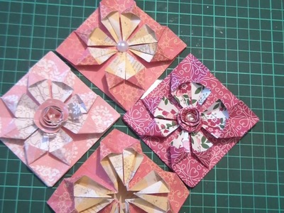 One sheet Teabag fold using DSP Cupcake & Carousels