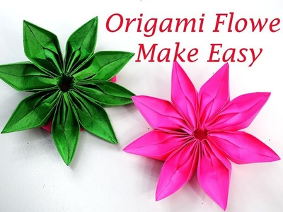 Flower origami easy origami flower tutorial how to make an origami origami easy origami flower tutorial how to make an origami mightylinksfo