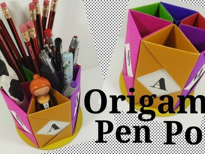 Origami Pen Pot Holder | Video Tutorial