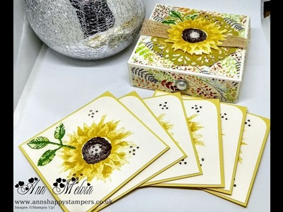Painted Harvest Note Cards, Envelopes & Matching Gift Box!