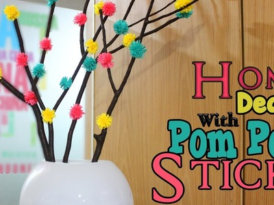 Pom Pom Tree Branches | How to make Pom Pom Wool Craft | #home décor| #DIY