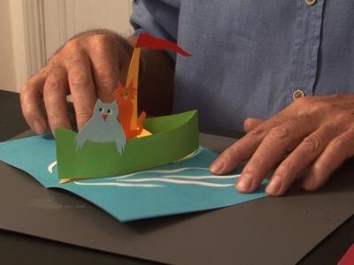 Pop-Up Tutorial 32 - Pop-Up Boat - Birthday Card
