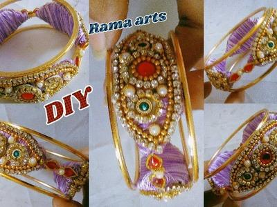 Silk thread bangle - How to make this bangle   jewellery tutorials