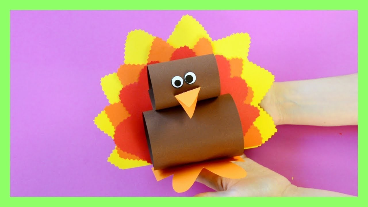 Simple Paper Turkey Craft - Thanksgiving crafts for kids