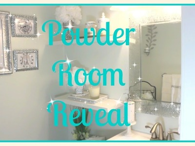????Small Bathroom Tour|| ????Affordable Glam Decor|| Powder Room Reveal????