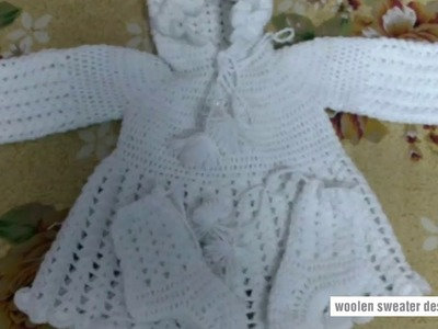 Sweater designs for kids or baby in hindi   woolen sweater designs   woolen frock for baby girl