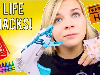 TESTING HOT GLUE GUN LIFE HACKS!. SoCassie