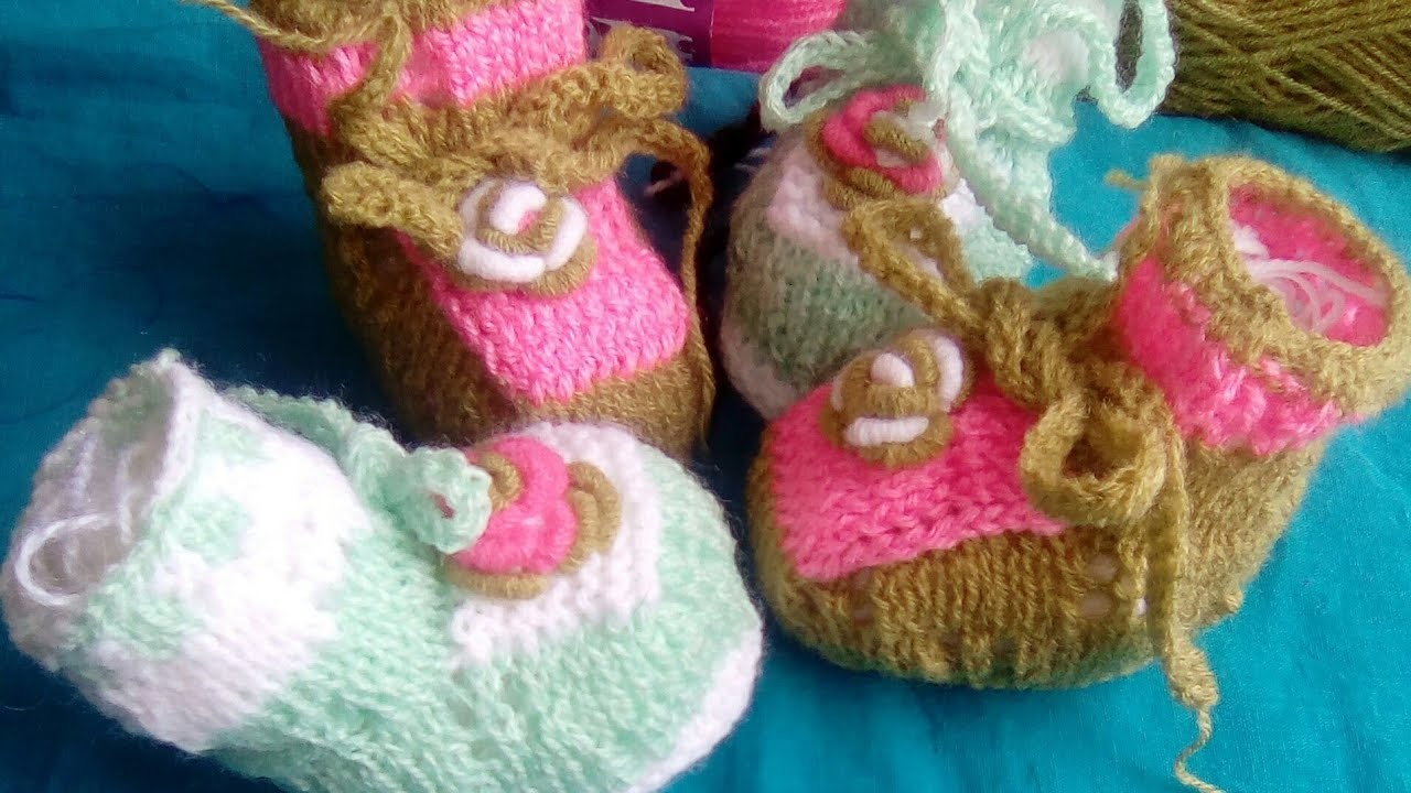 tuto chaussons b b au tricot au point ajour zapatitos para b b baby booties 2 2 my crafts. Black Bedroom Furniture Sets. Home Design Ideas