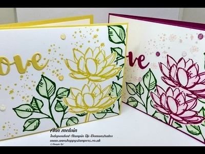 Water colouring & Masking with Remarkable You Stampin Up!