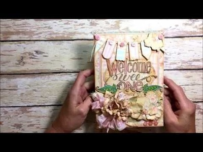 Welcome Wee One Baby Girl Folio with Tammy Tutterow Stamps and Dies by Kathy Clement