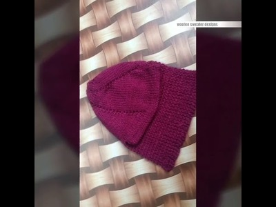 Woolen cap for kids or baby in hindi | one colour woolen cap for kid or baby in hindi | kids sweater