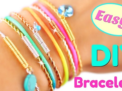 5 DIY Bracelets EASY DIY Bracelet tutorial | Handmade Bracelets