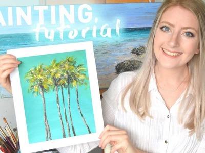 ACRYLIC PAINTING TUTORIAL for Beginners | Katie Jobling Art