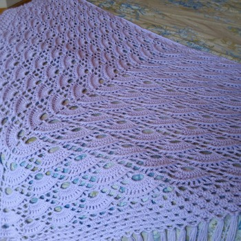 Baby Purple Home Made Shawl