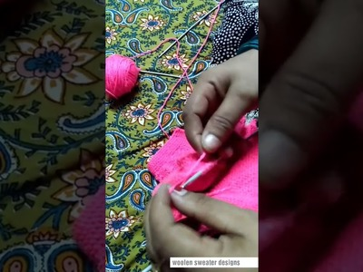 Baby sweater design | part 9 - one colour woolen sweater design for kids or baby | sweater making