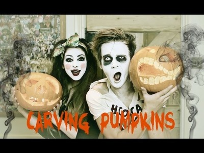 Carving Pumpkins with Zoella | ThatcherJoe