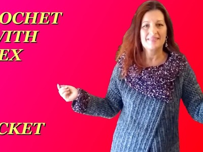 CROCHET JACKET CARDIGAN ANY SIZE TUTORIAL with collar