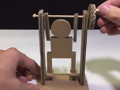 DIY Best Toy Ever Cardboard Pull-Up Man