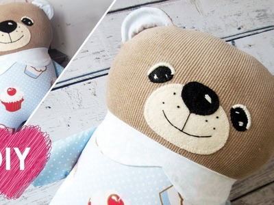 DIY. How to Sew a Bear Pillow.