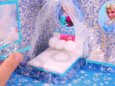 DIY Miniature FROZEN Bedroom ~ Dollhouse Room