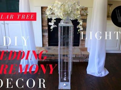 DIY WEDDING CEREMONY DECOR | DOLLAR TREE LIGHTED WEDDING AISLE DECOR | BLING, LIGHTING, & CRYSTALS