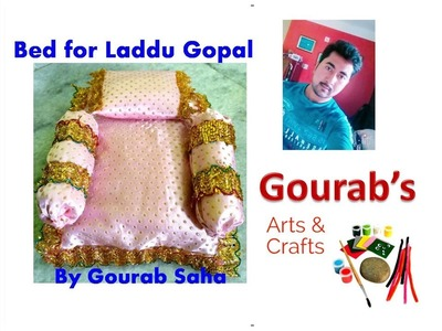 Easily Make Bed.Night bed.Palang.night room for Ladoo Gopal at home with easily available materials