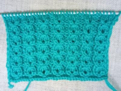 Easy Single Color Knitting Pattern No. 72  Hindi