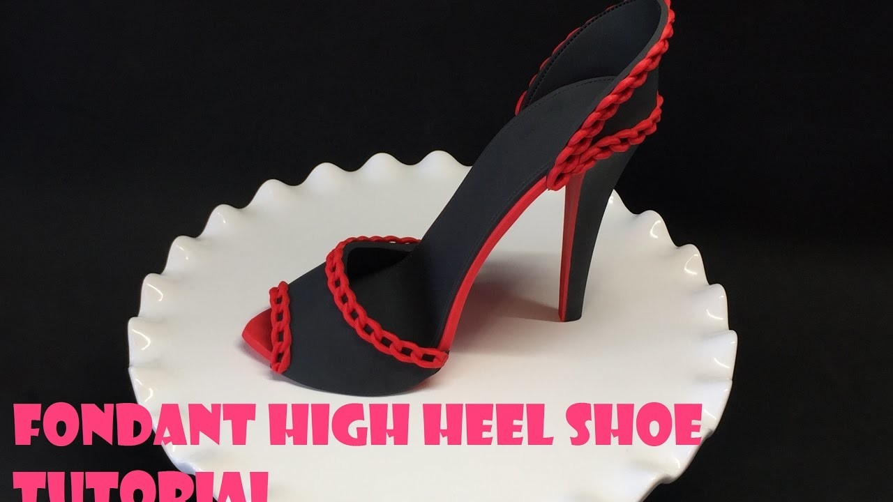 fondant high heel shoe tutorial my crafts and diy projects