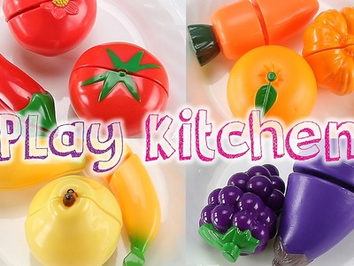 Fun Beats ♥Toy Nursery Rhyme♥ Learn Fruits Veggies Names Colors Velcro Cutting Toy Food Playset
