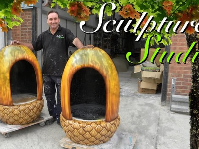 Giant Acorns and Trees by Sculpture Studios